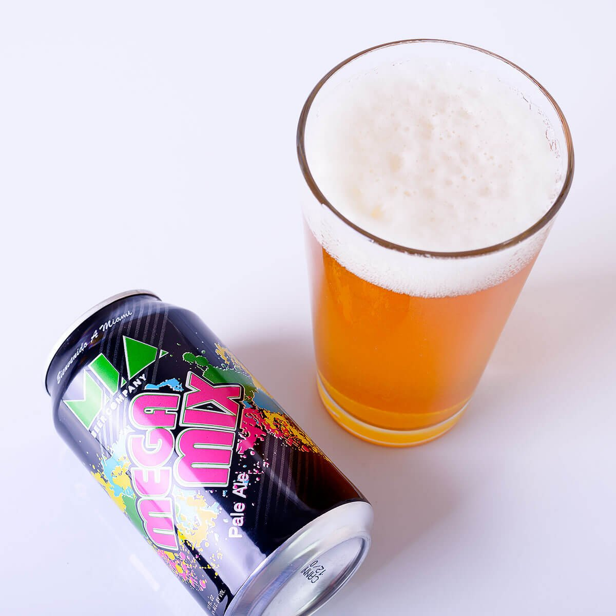 Mega Mix Pale Ale, an American Pale Ale brewed by MIA Beer Co.