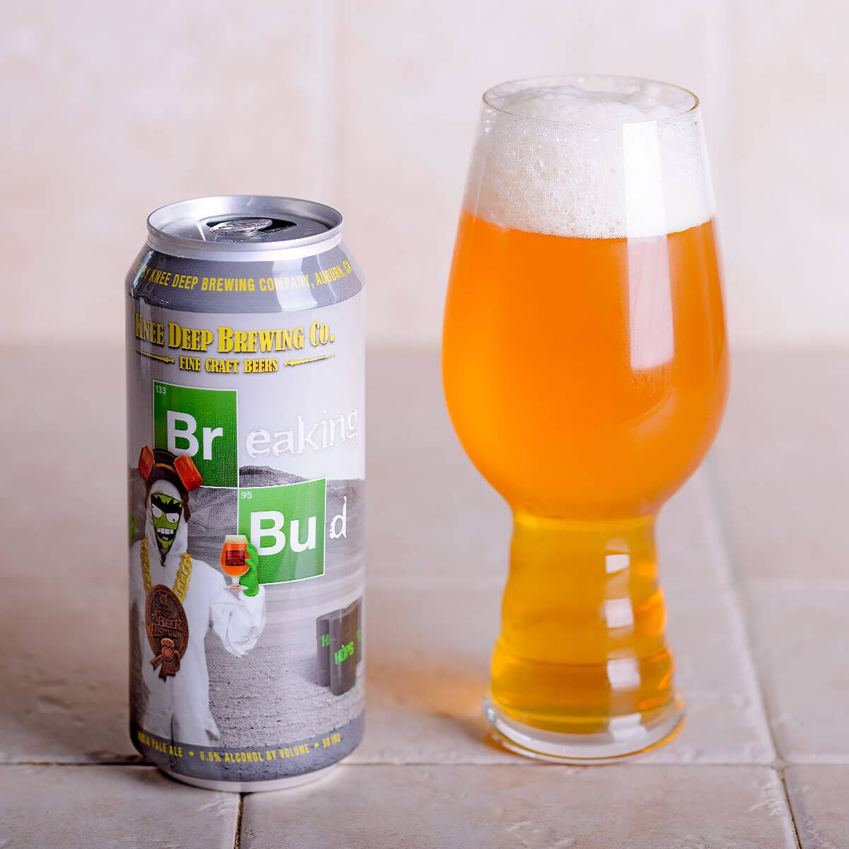 Breaking Bud, an American IPA by Knee Deep Brewing Co.