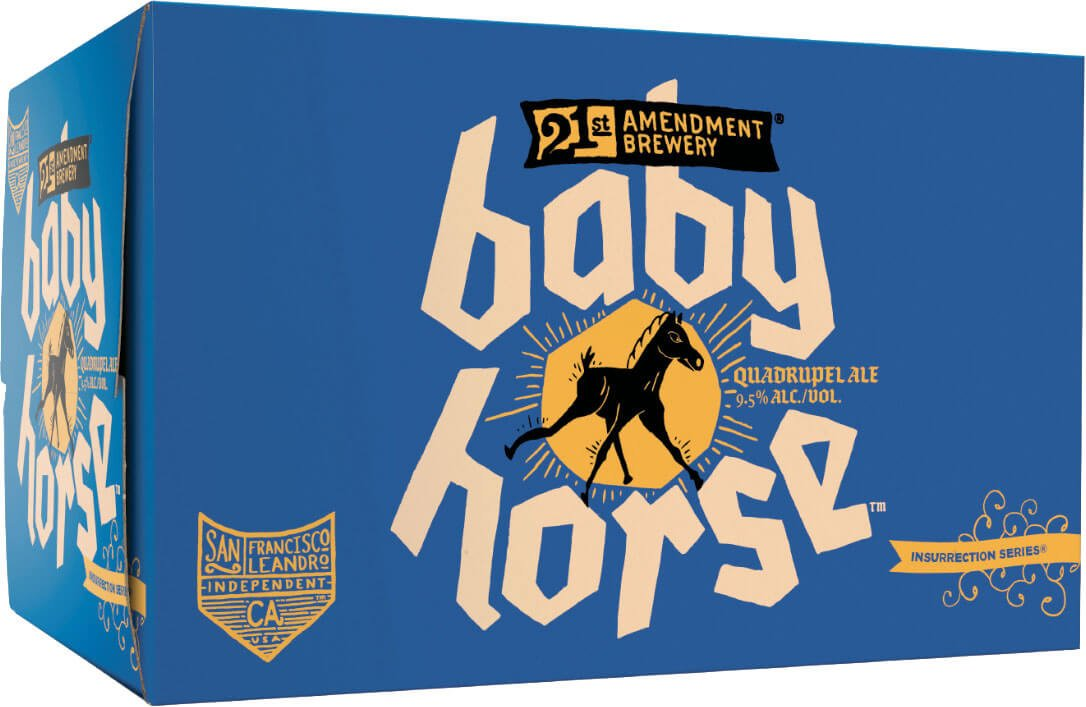Packaging art for the Baby Horse by 21st Amendment Brewery