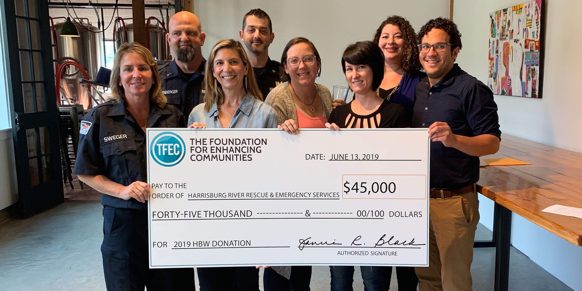 Harrisburg Beer Week Donates $45,000 to Non-Profit