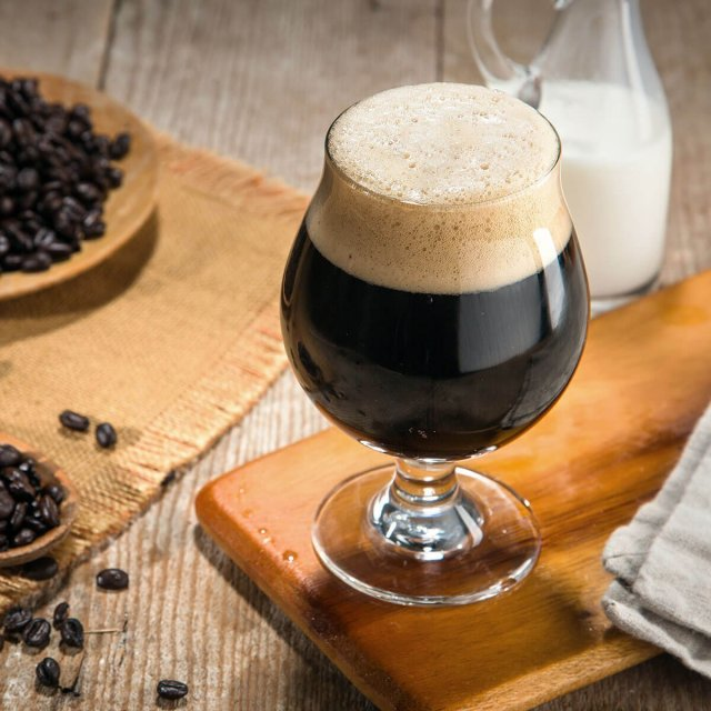 An English Milk Stout in a Snifter