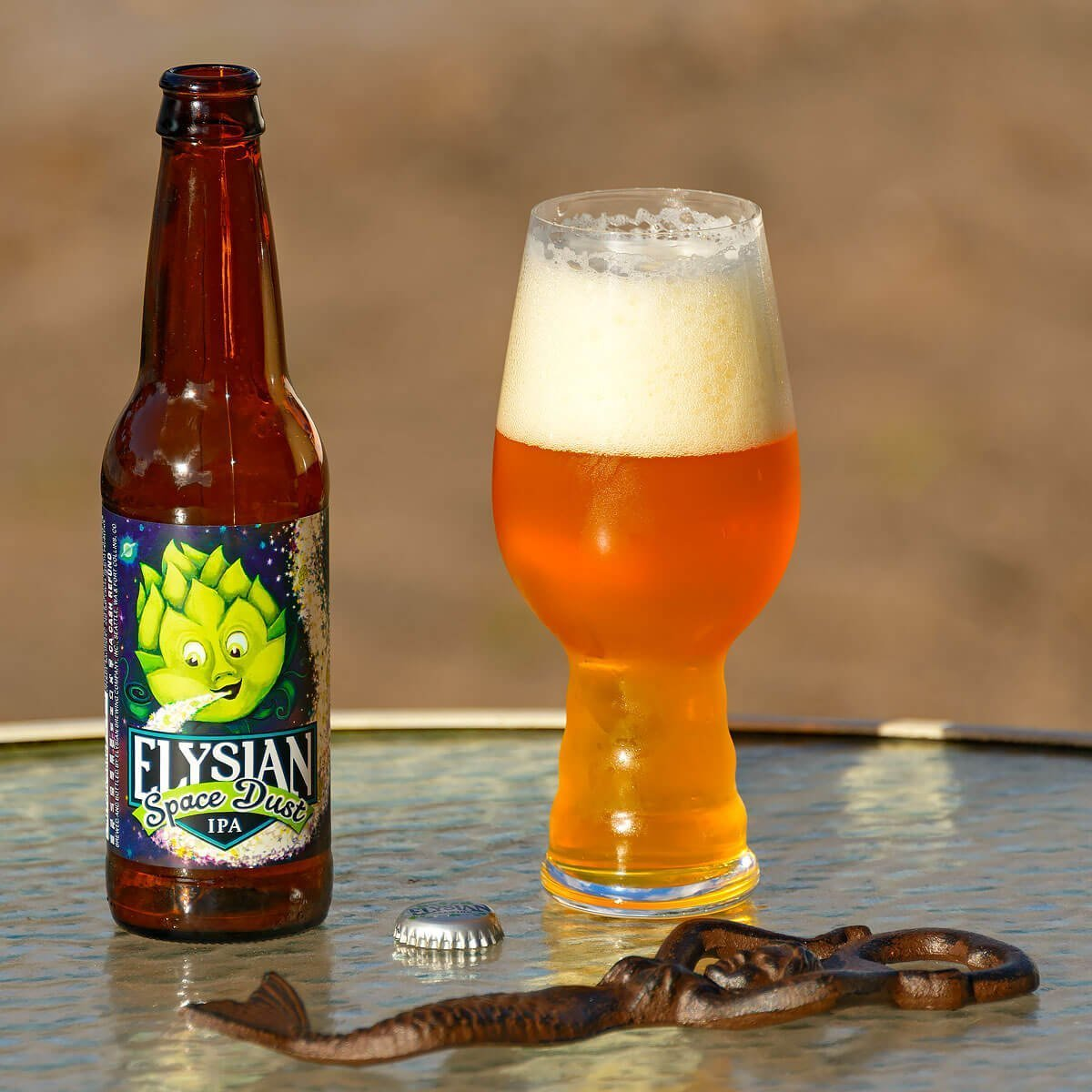 Space Dust is an American Double IPA by Elysian Brewing Company that balances citrus, pine, and resin with tropical fruit and toast. Read the beer review.