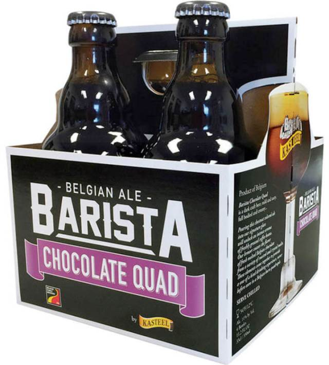 Packaging art for the Kasteel Barista Chocolate Quad by Brouwerij Van Honsebrouck N.V.
