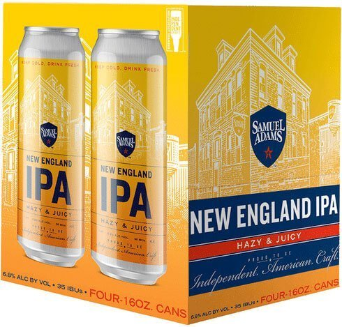 Packaging art for the Samuel Adams New England IPA by Boston Beer Company