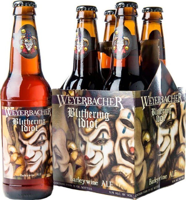 Packaging art for the Blithering Idiot by Weyerbacher Brewing Co.