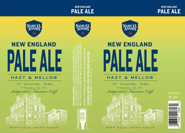 Label art for the New England Pale Ale by Boston Beer Company