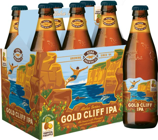 Packaging art for the Gold Cliff IPA by Kona Brewing Co.