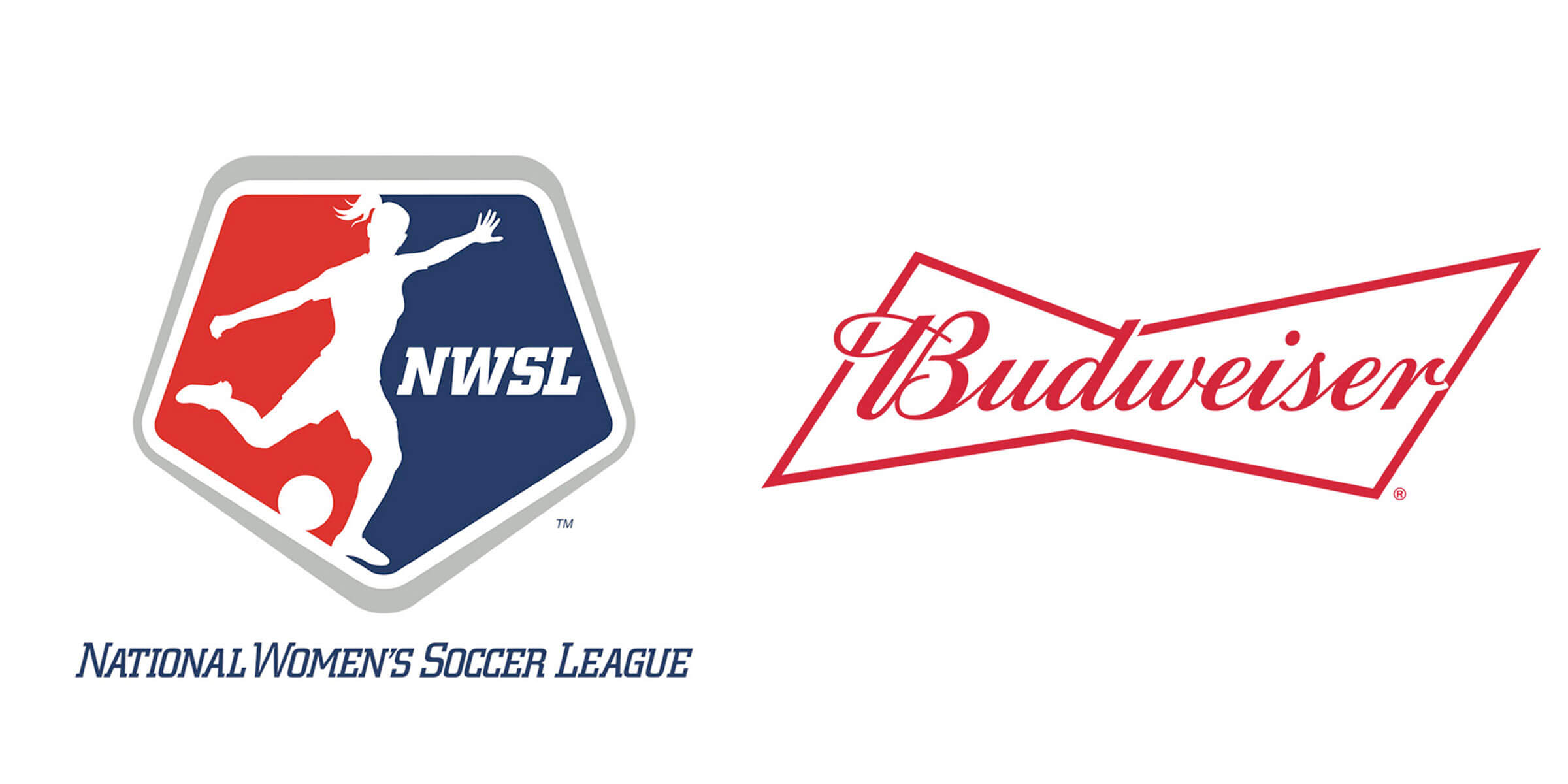 """Anheuser-Busch announced a multi-year deal to make Budweiser the """"first official beer sponsor"""" of the National Women's Soccer League."""
