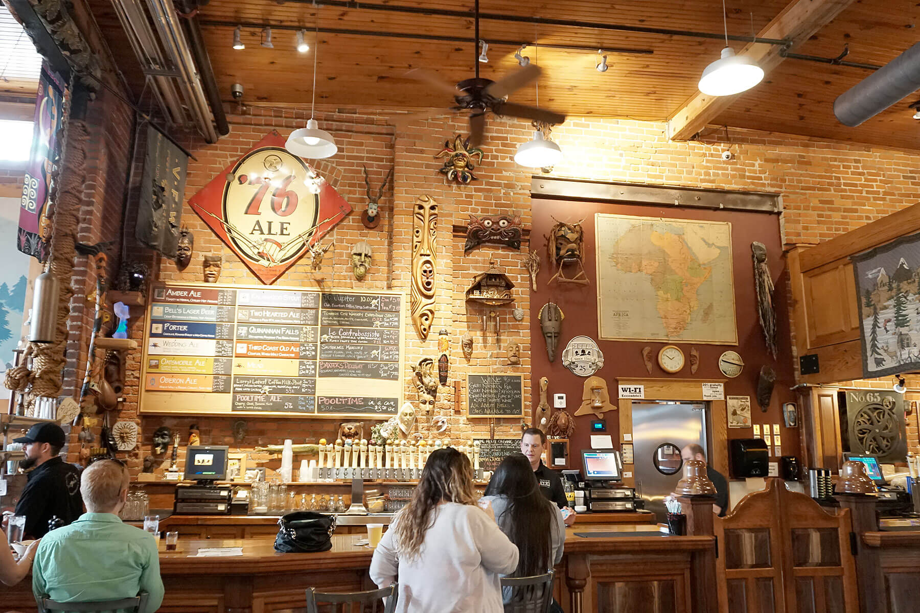 Inside the brewpub at the Bell's Brewery, Inc. Eccentric Cafe location in Kalamazoo, Michigan