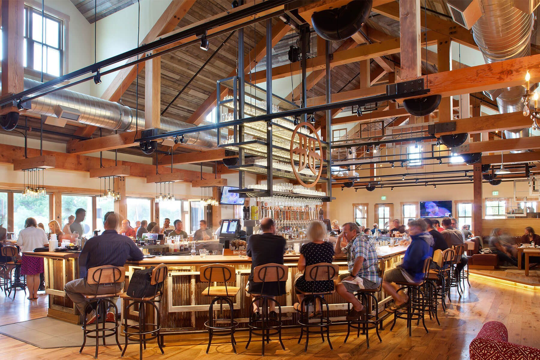 Inside the Breckenridge Brewery tasting room in Littleton, Colorado