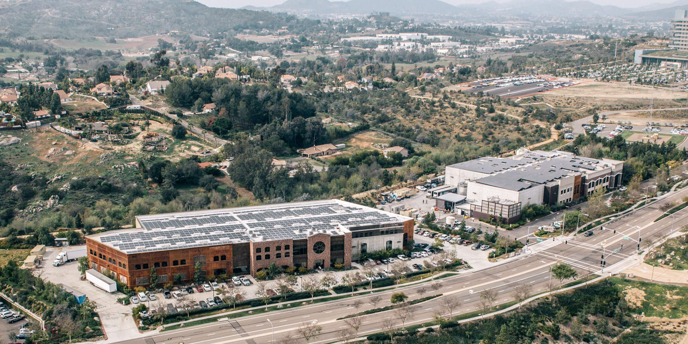 The Stone Brewing production facility complex in Escondido, California