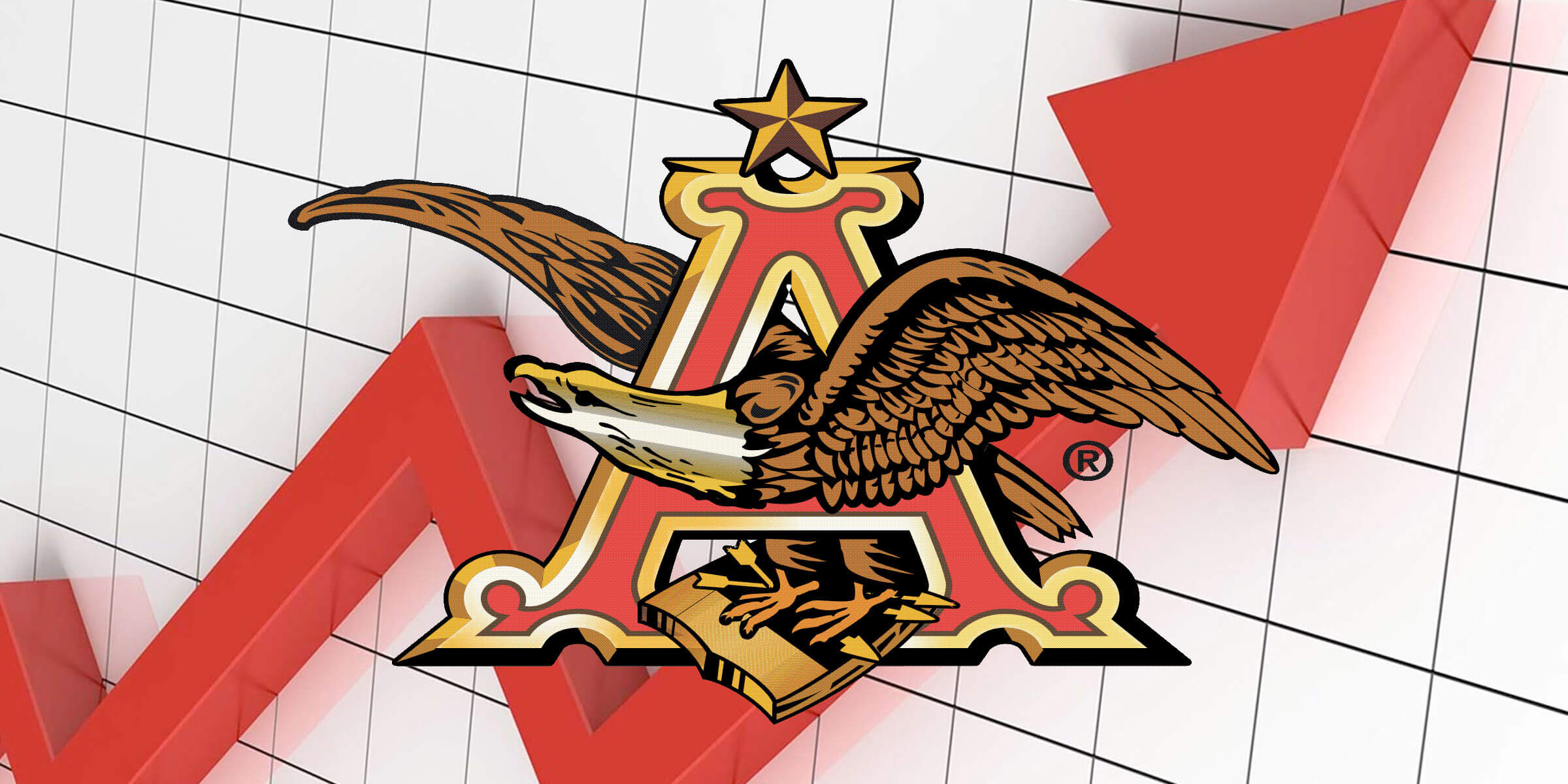 Anheuser-Busch Logo Set Against Chart Showing Growth