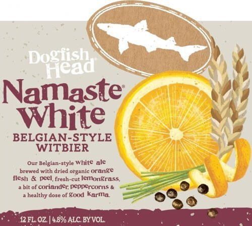 Label art for the Namaste White by Dogfish Head Craft Brewery