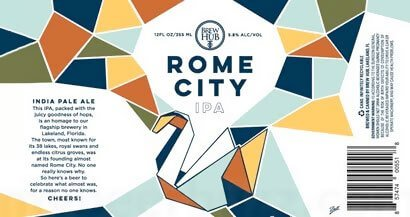 Label art for the Rome City by Brew Hub