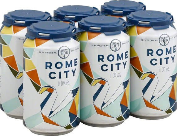 Packaging art for the Rome City by Brew Hub