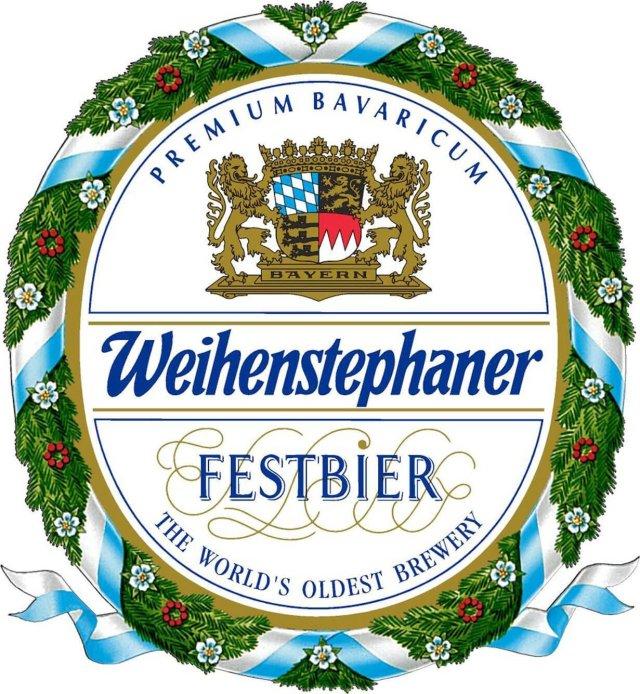 Label art for the Weihenstephaner Festbier by Bayerische Staatsbrauerei Weihenstephan