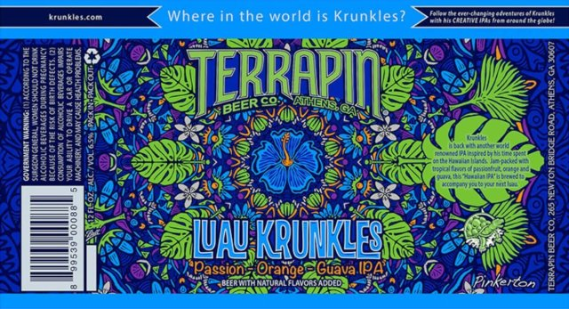 Label art for the Luau Krunkles by Terrapin Beer Co.