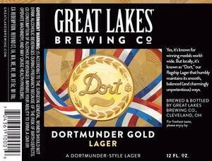 Label art for the Dortmunder Gold Lager by Great Lakes Brewing Co.