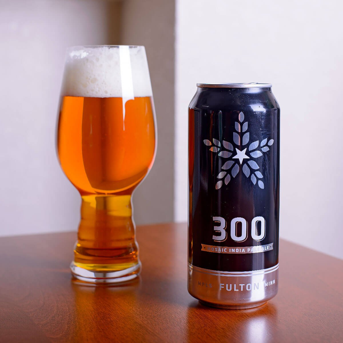 300 is an American IPA by Fulton Beer that wonderfully balances hoppy pine and citrus with biscuit, tropical fruit, and caramel.