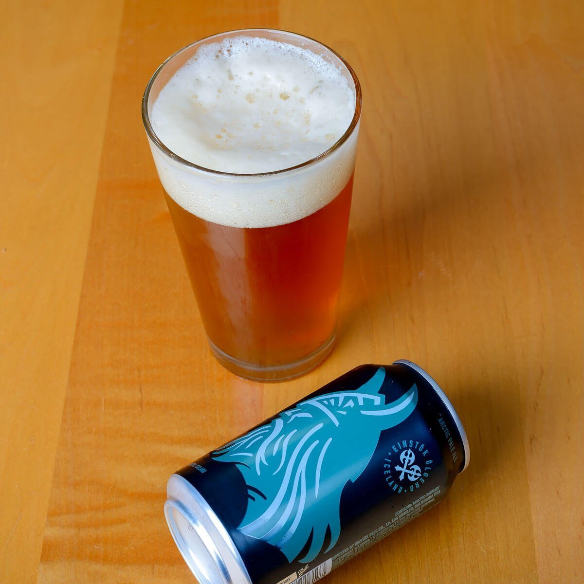 Icelandic Arctic Pale Ale is an American-style Pale Ale brewed by Einstök Ölgerð that balances grass and citrus hops with toffee and toasted bread.