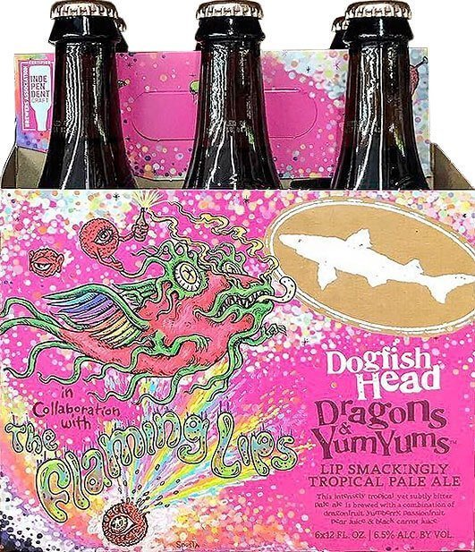 Packaging art for the Dragons & YumYums by Dogfish Head Craft Brewery
