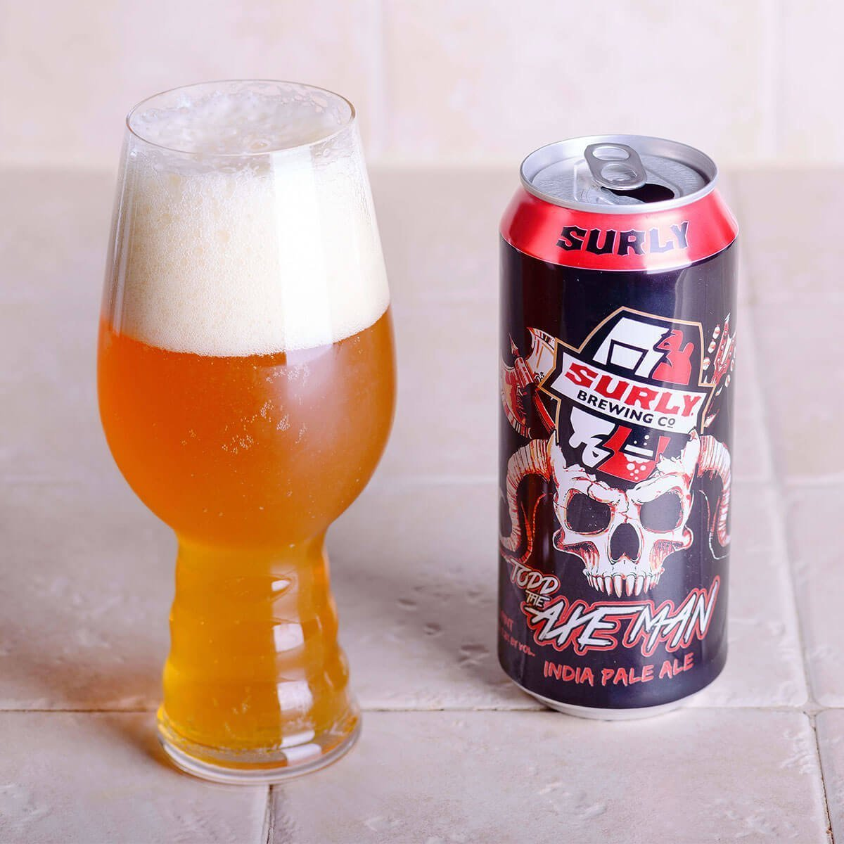 Todd The Axe Man is an American IPA brewed by Surly Brewing Co. that's a refreshing blend of pine and citrus with tropical fruit and toasted bread.
