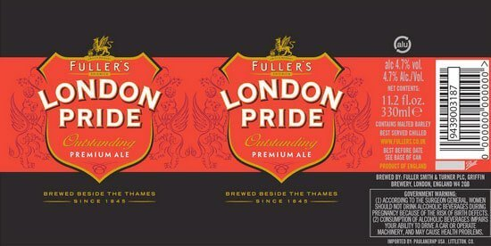 Label art for the Fuller's London Pride by Fuller Smith & Turner PLC