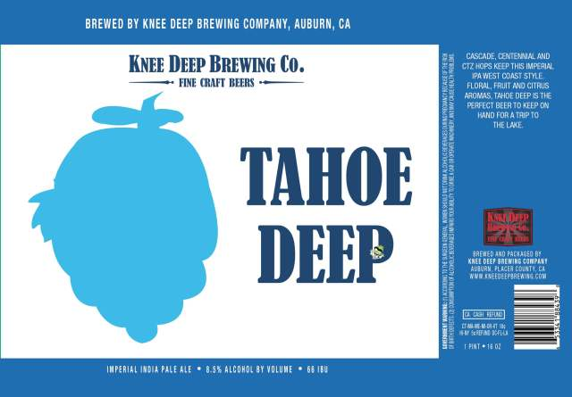 Label art for the Tahoe Deep by Knee Deep Brewing Co.