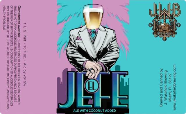 Label art for the El Jefe by J. Wakefield Brewing