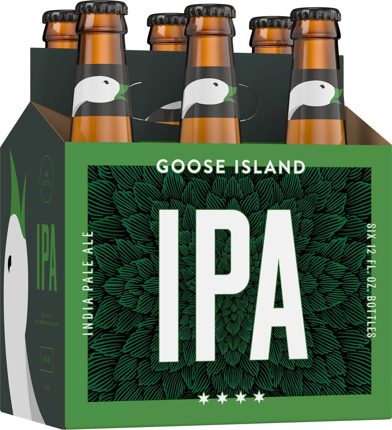 Packaging art for the Goose Island IPA by Goose Island Beer Co.
