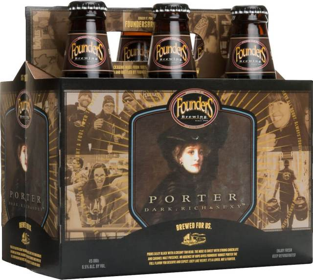 Packaging art for the Founders Porter by Founders Brewing Co.