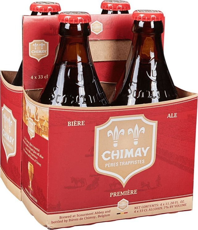 Packaging art for the Chimay Première Red Ale by Bières de Chimay