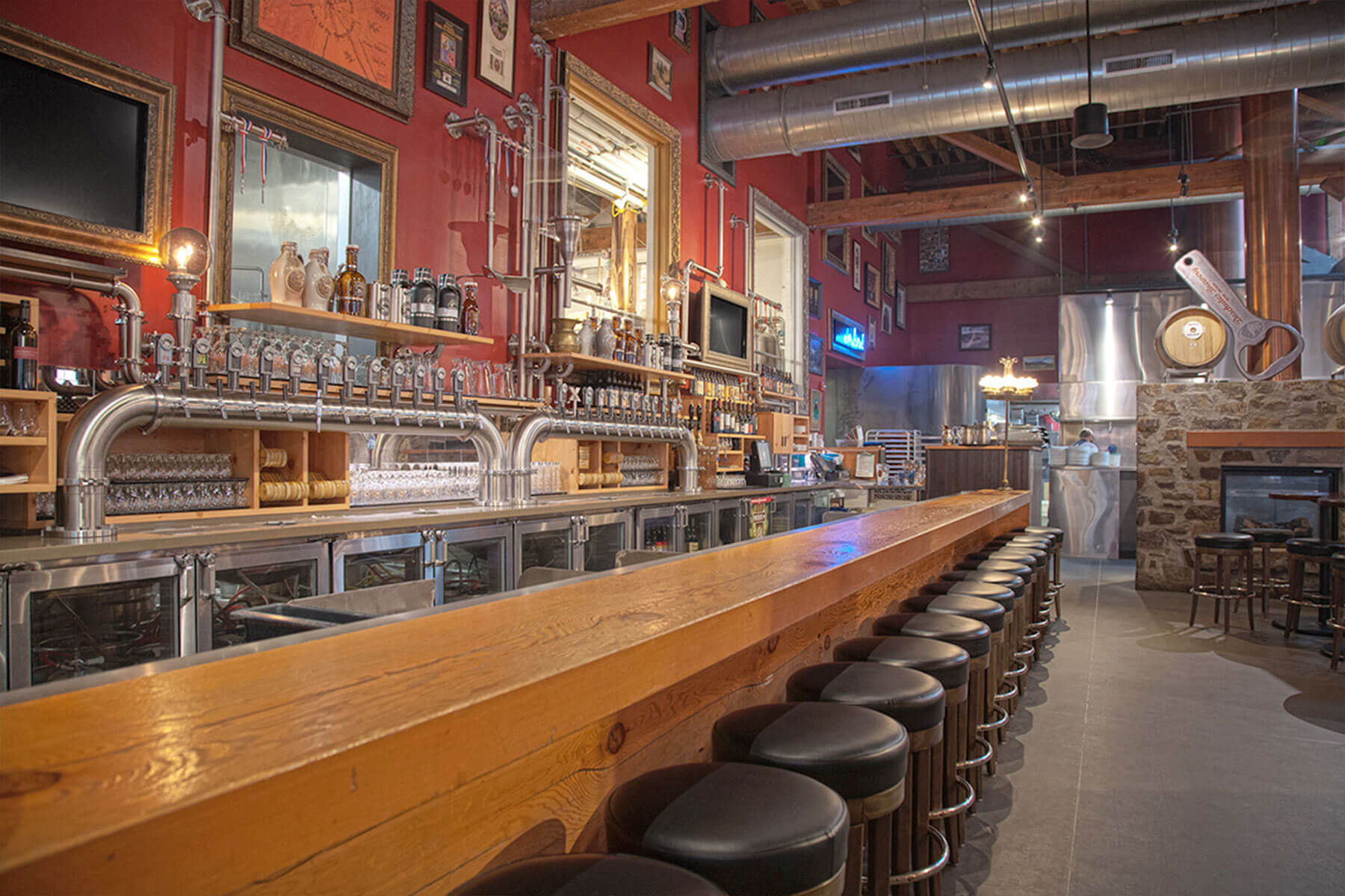 Inside the Deschutes Brewery Tap Room in Portland, Oregon