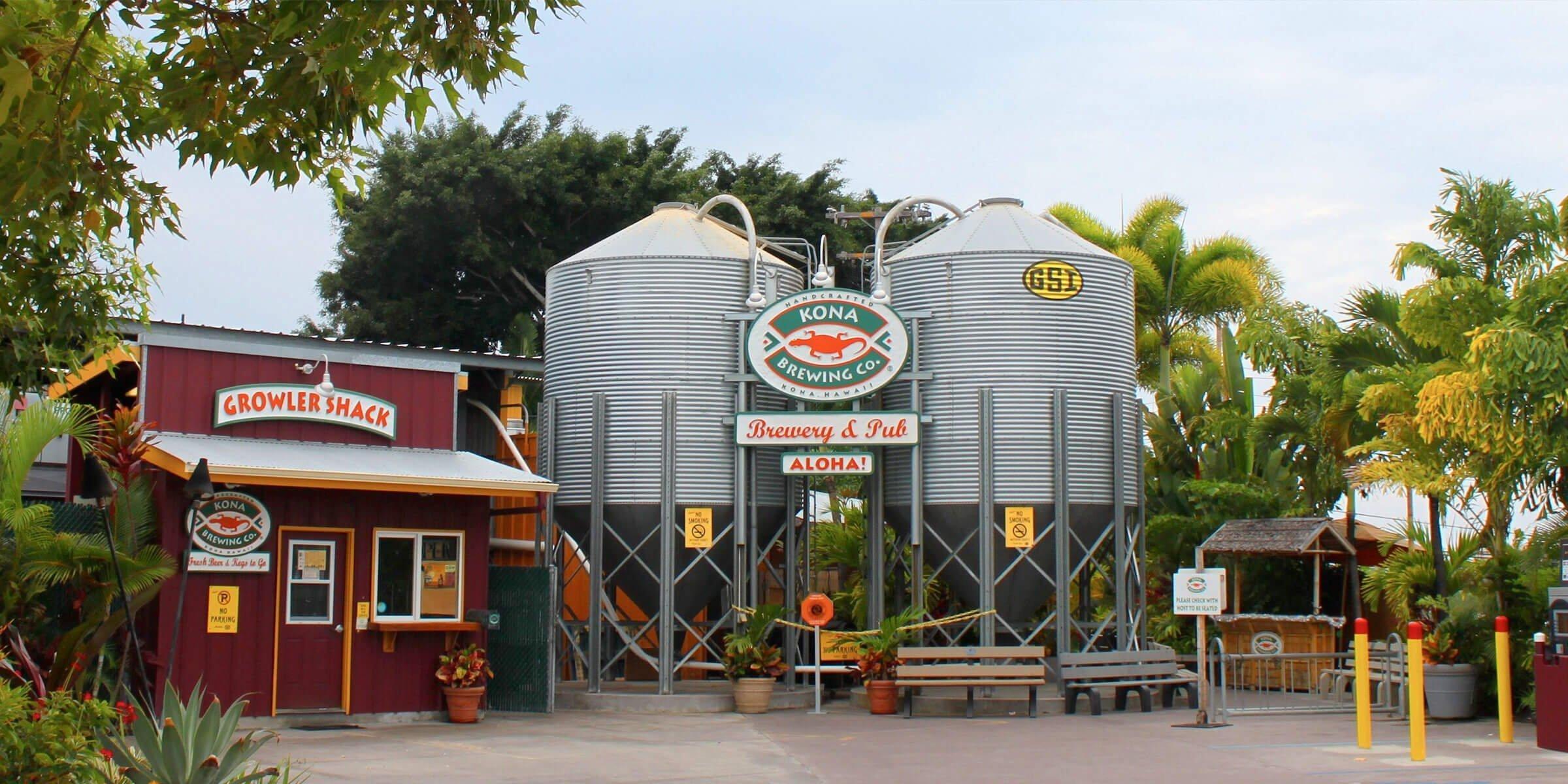 Outside the Kona Brewing Co. Tap Room in Kona, Hawaii