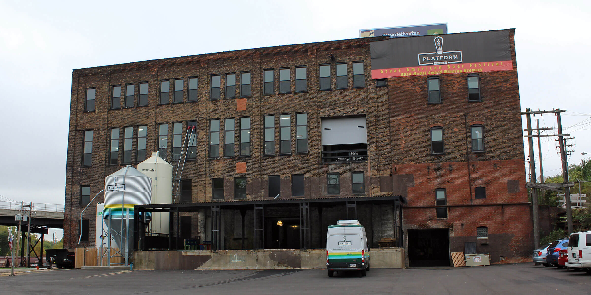 Outside the Brewery at Platform Beer Co. in Cleveland, Ohio