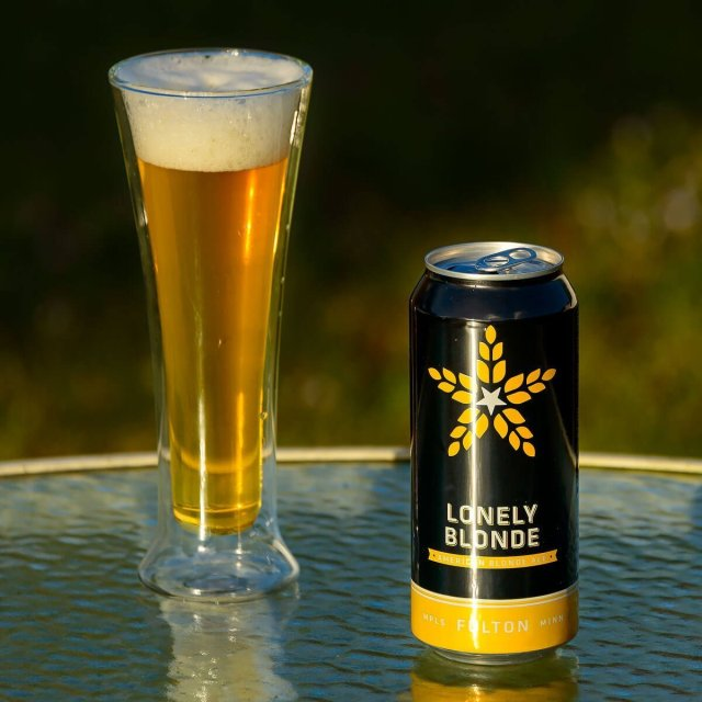 Lonely Blonde is an American Blonde Ale by Fulton Beer that blends honey and wheat with peppery hops and tangy citrus.