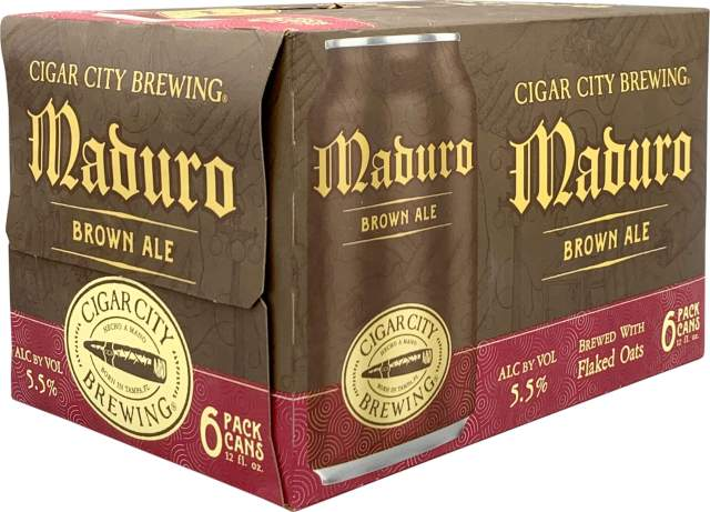 Packaging art for the Maduro Brown Ale by Cigar City Brewing