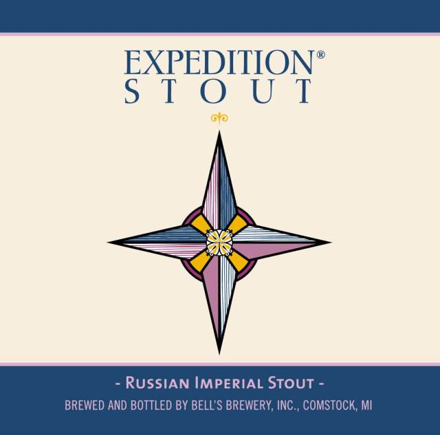 Label art for the Expedition Stout by Bell's Brewery, Inc.