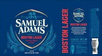Label art for the Samuel Adams Boston Lager by Boston Beer Company