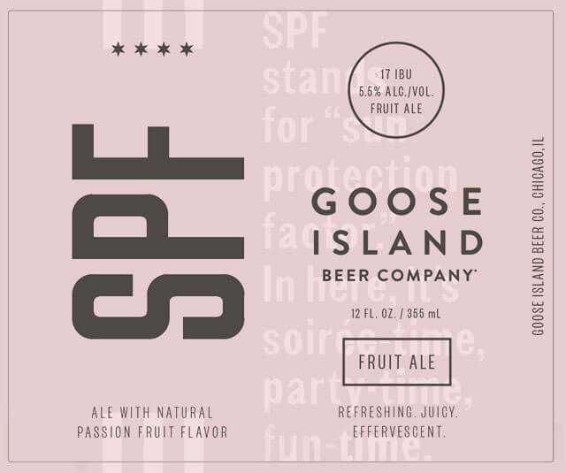 Label art for the SPF by Goose Island Beer Co.