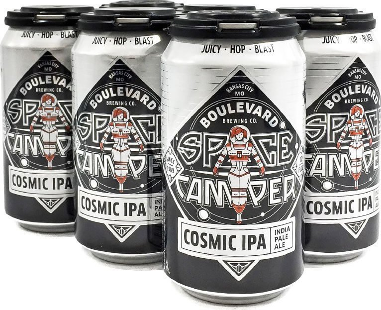 Packaging art for the Space Camper Cosmic IPA by Boulevard Brewing Co.