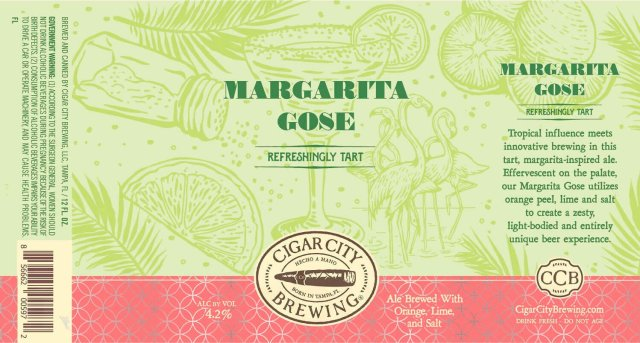 Label design for 12 oz. cans of the Margarita Gose by Cigar City Brewing