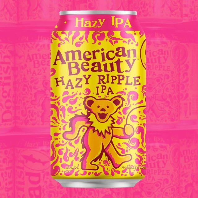 The American Beauty Hazy Ripple IPA by Dogfish Head Craft Brewery and Grateful Dead will be available this November