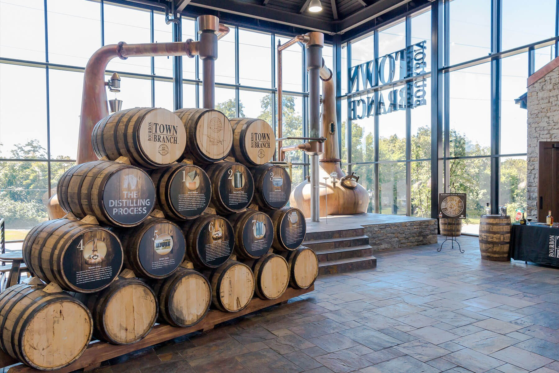 Inside the visitor center at the Alltech Lexington Brewing & Distilling Co. in Lexington, Kentucky