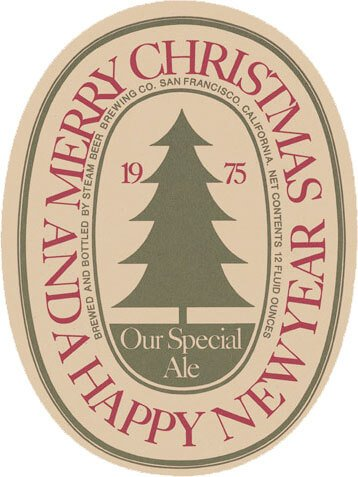 Label art for the Our Special Ale (Anchor Christmas Ale) by Anchor Brewing