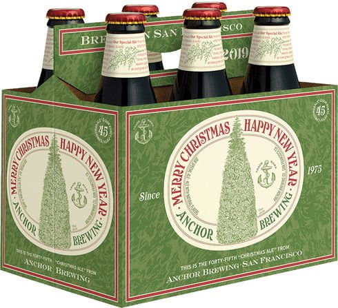 Packaging art for the Our Special Ale (Anchor Christmas Ale) by Anchor Brewing