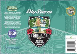 Label art for the Tropic Pressure by Big Storm Brewing Co.
