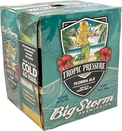 Packaging art for the Tropic Pressure by Big Storm Brewing Co.