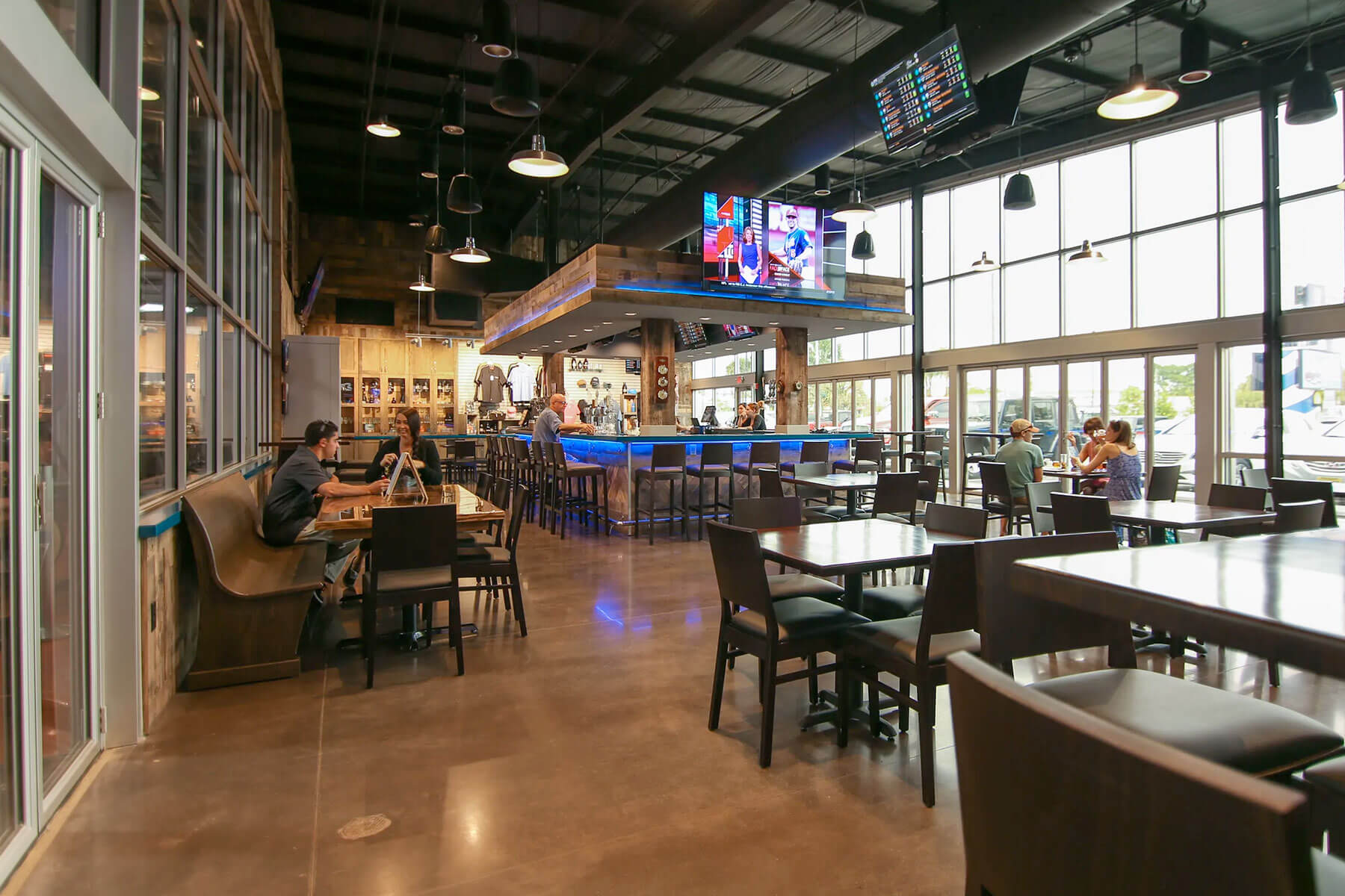 Inside the Big Storm Brewing Co. taproom in Clearwater, Florida