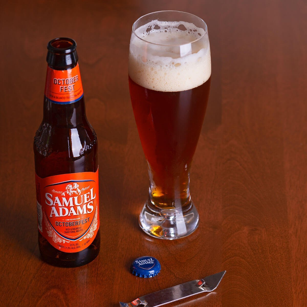 Samuel Adams OctoberFest is a German-style Märzen by the Boston Beer Company that blends caramel, noble hops, and subtle roast.